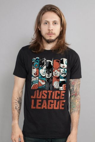Camiseta Masculina DC Comics Justice League