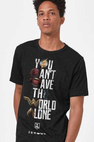 Camiseta Masculina Liga da Justiça You Can't Save Color