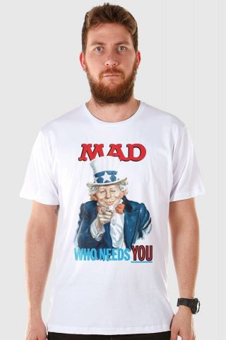 Camiseta Masculina MAD Who Needs You?