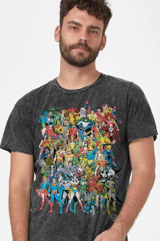 Camiseta Masculina Marmorizada DC Comics Originals