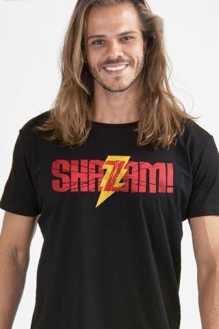 Camiseta Masculina Shazam Logo