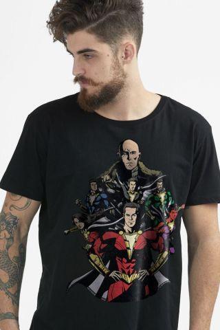 Camiseta Masculina Shazam VS Doctor Sivana
