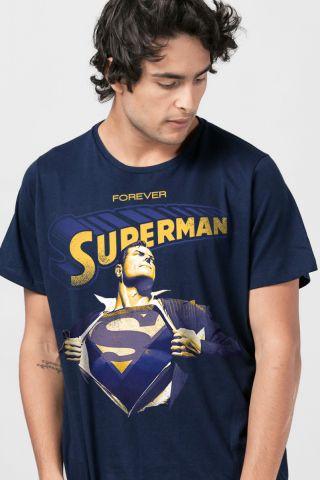 Camiseta Masculina Superman 80 Anos Forever