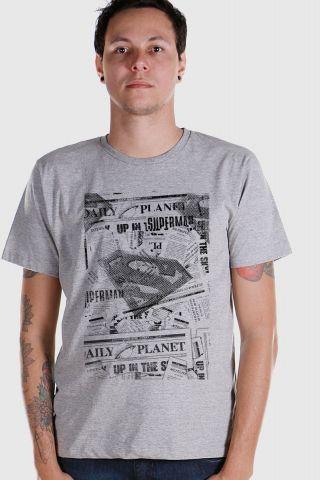 Camiseta Masculina Superman Planeta Diário