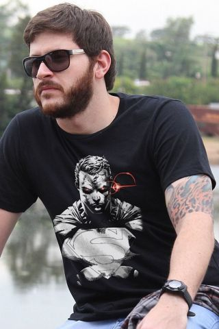 Camiseta Masculina Superman X-Ray Vision