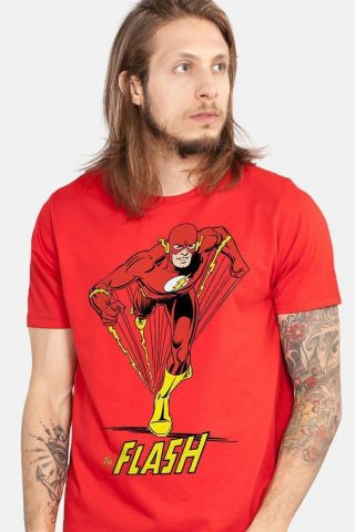 Camiseta Masculina The Flash  Em Ação