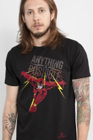 Camiseta Masculina The Flash Possible