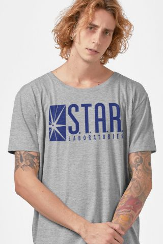 Camiseta Masculina The Flash STAR Laboratories