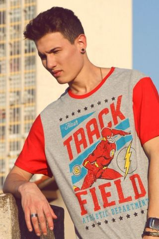 5248608dfa Loja Oficial DC Comics Camiseta Masculina The Flash Track & Field