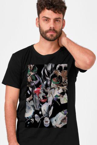 Camiseta Masculina Vilões de Gotham Alex Ross