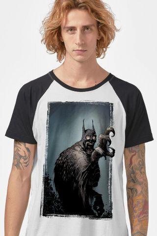 Camiseta Raglan Masculina Batman Coruja