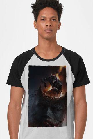 Camiseta Raglan Masculina Batman Que Ri Aberração