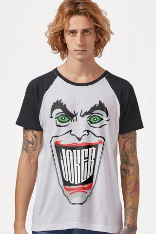 Camiseta Raglan Masculina Coringa Sorriso
