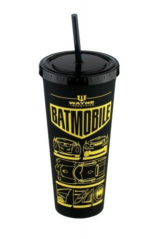 Copo com Tampa e Canudo Batman Batmobile