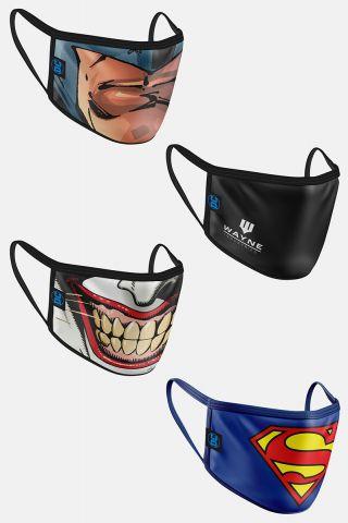 Kit com 4 Máscaras DC Comics Men