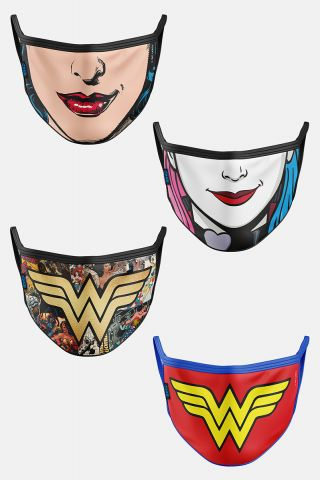 Kit com 4 Máscaras DC Comics Women