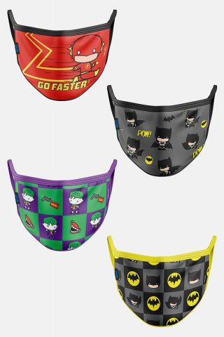 Kit com 4 Máscaras Pequenos Super Heróis
