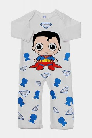 Macacão Infantil Manga Longa Superman Baby