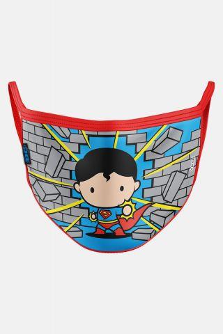 Máscara Infantil Superman Chibi
