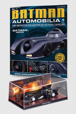 Miniatura Batmóvel ed.1 - Batman o Filme + Revista
