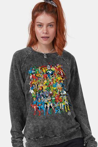 9026fccb84 Moletinho Marmorizado Feminino DC Comics Originals