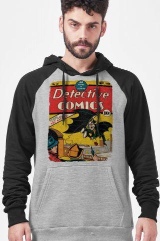 Moletom Raglan Batman 80 Anos Detective Comics