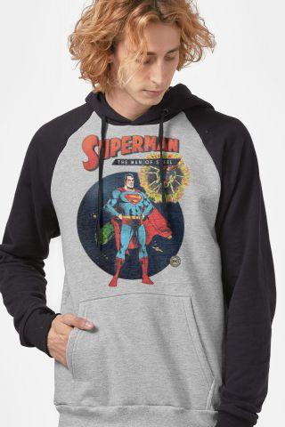 Moletom Raglan Superman The Man of Steel