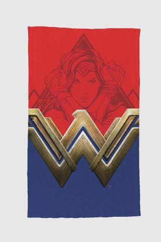 Pano de Prato Mulher Maravilha Fancy Logo