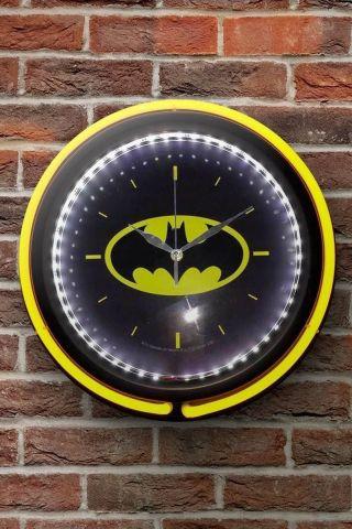 Relógio de Parede DC Comics Logo Batman Double Neon em Vidro