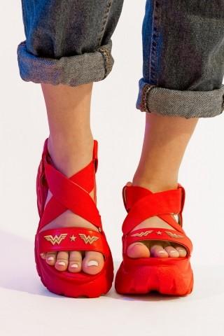 Sandália Mulher Maravilha Vermelha