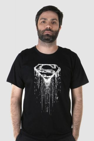 Camiseta Masculina Superman Steel Melting Basic