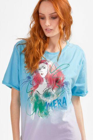 T-shirt Feminina Mera Aqua
