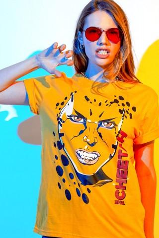 T-shirt Feminina Mulher Maravilha 1984 Cheetah Rosto