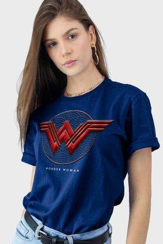 T-shirt Feminina Mulher Maravilha Logo Authentic