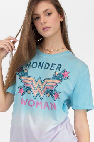 T-shirt Feminina Mulher Maravilha Logo Star