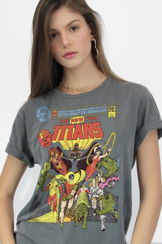 T-shirt Premium Feminina Teen Titans