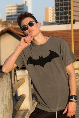 T-shirt Premium Masculina Batman Logo