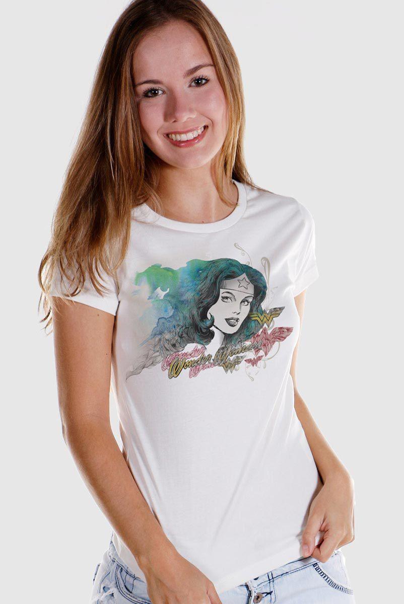 Camiseta Feminina Mulher Maravilha Nature Force