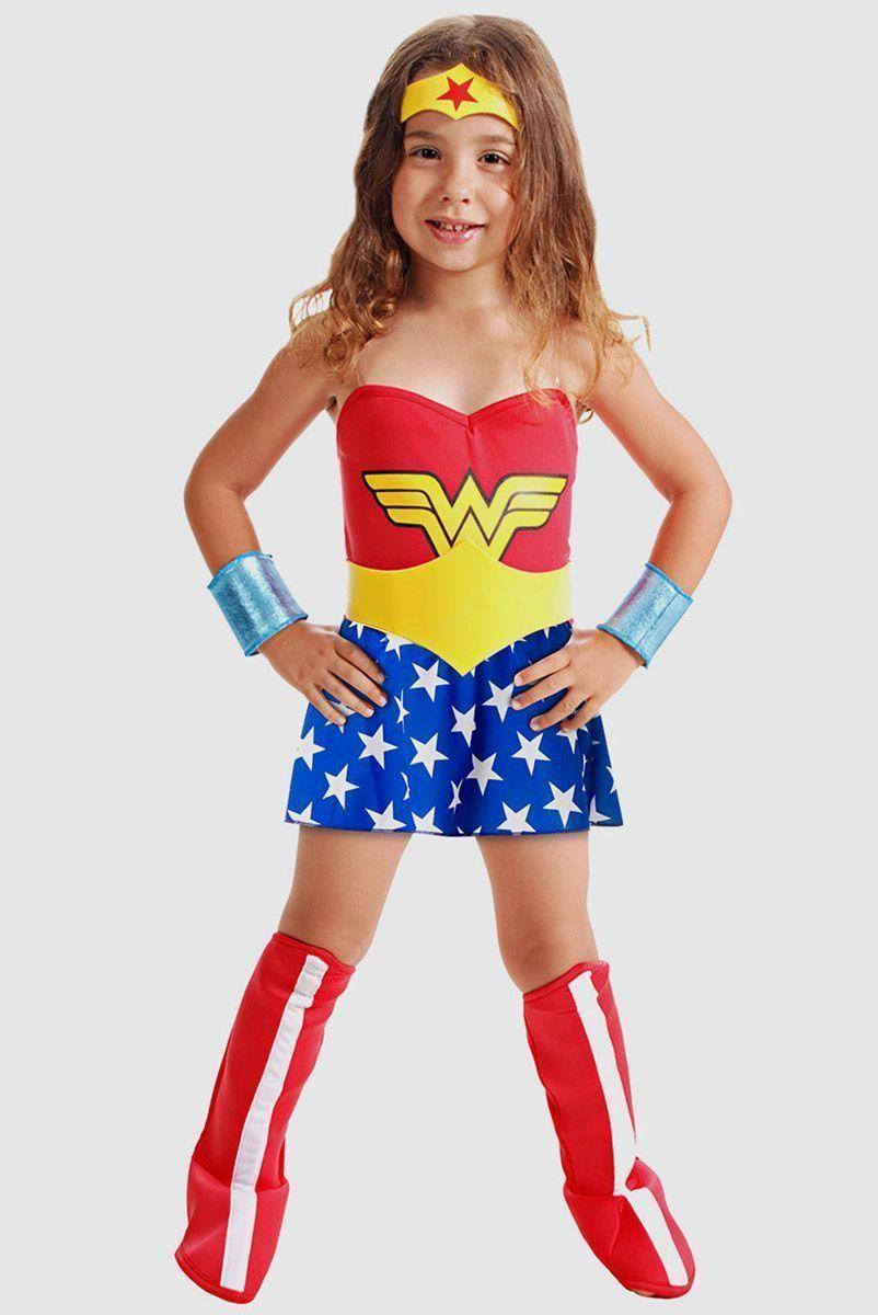 Fantasia Infantil Mulher Maravilha Standard