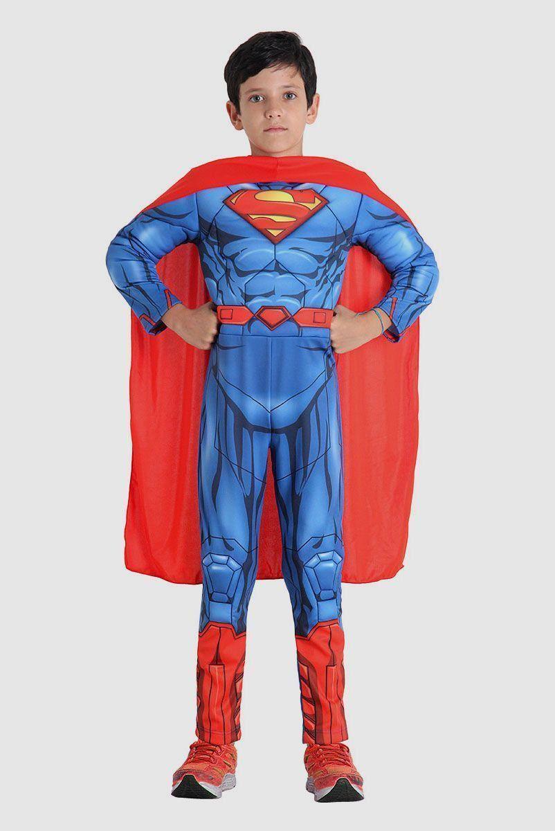 Fantasia Infantil Superman Premium na Lata