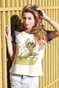Camiseta Raglan Feminina DC Comics The Cheetah