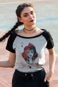 Camiseta Raglan Feminina Harley Quinn Card