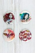 Cartela de Buttons Wonder Woman