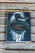 Caderno 10 Matérias Superman Man Of Steel Logo