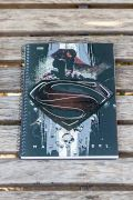 Caderno 1 Matéria Superman Man Of Steel Logo