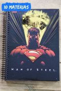 Caderno Superman Dark Ray Vision 10 Matérias