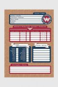 Caderno Wonder Woman Fight For Peace 10 Matérias