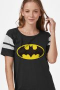 Camiseta Athletic Feminina Batman Logo Clássico