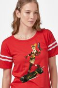 Camiseta Athletic Feminina Harley Quinn Gotham Or Bust