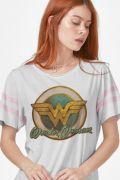 Camiseta Athletic Feminina Mulher Maravilha Vintage
